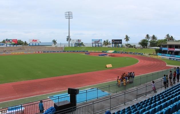 Veidi enam kui 4000 istekohaga staadion, mis Fidži ja Eesti maavõistlust võõrustab. Foto: Kasper Elissaar