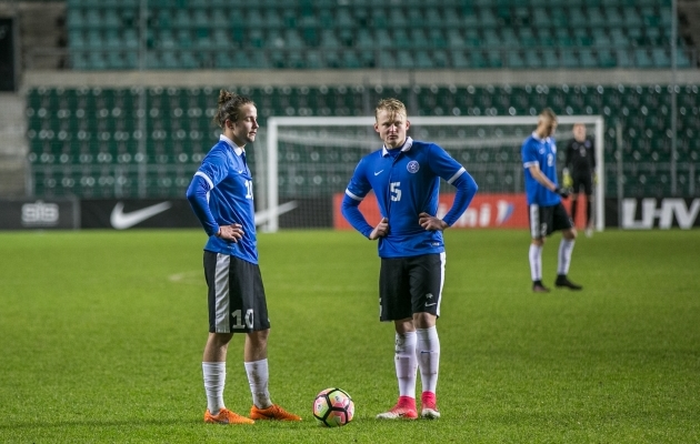 Hetk enne Lilanderi poolt Islandi U21 koondise vastu löödud väravat. Foto: Brit Maria Tael