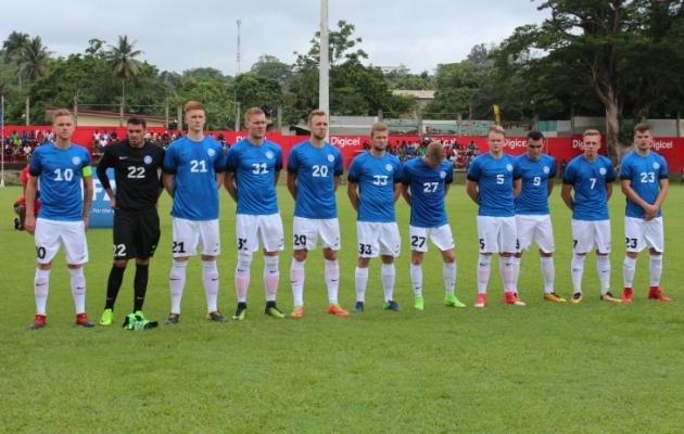 Vanuatu hurraa-jalgpall võitis kohalike südamed, kuid Eesti kaitse viis kauged külalised võidule  (galerii!)