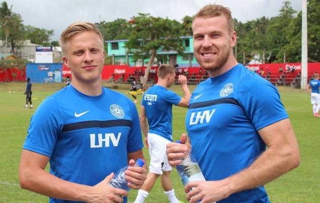Hindrek Ojamaa ja Henri Anier. Foto: Kasper Elissaar