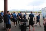 Eesti koondise saabumine Uus-Kaledooniasse
