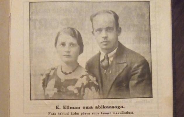 Eduard Ellman koos oma naise Magda-Erisega Ellmani 50. maavõistluse mängukavas. Foto: arhiiv