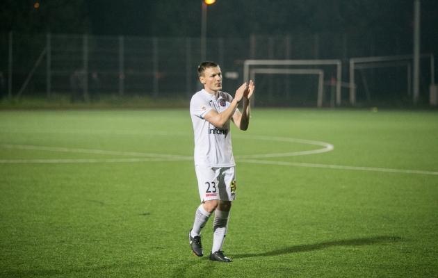 Dmitri Kruglov sõlmis Levadiaga lepingu ja jätkab mängimist klubi esindusvõistkonnas FCI Levadia. Foto: Brit Maria Tael