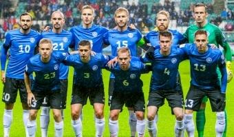 Eesti koondislased tegid toetajatele jalajälgi
