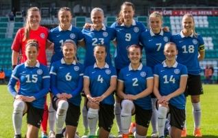 Naiste koondis tõusis FIFA edetabelis viis kohta