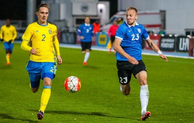 Linus Wahlqvist ja Mihkel Ainsalu on üksteise vastu mänginud U21 koondises. Nüüd võib sama juhtuda täiskasvanute arvestuses. Foto: Gertrud Alatare