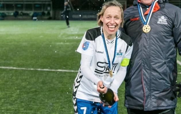 Morkovkina superkarika võitu tähistamas. Foto: Brit Maria Tael
