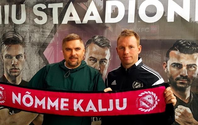 Kuno Tehva ja Kristen Viikmäe. Foto: Nõmme Kalju FC