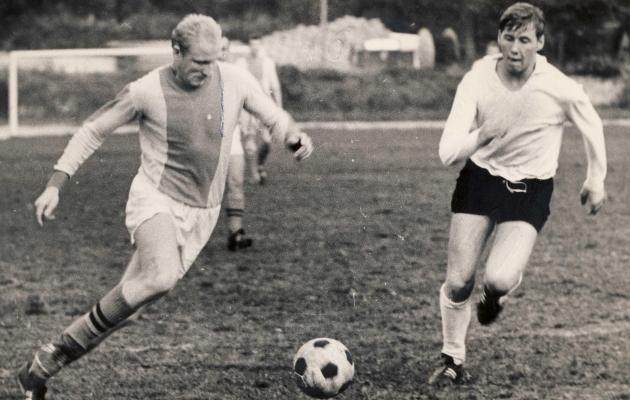 Jalgpallimäng Eestis 1970ndatel. Foto: arhiiv