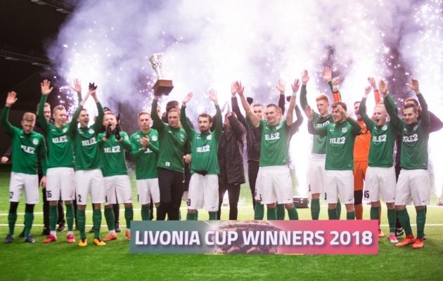 FC Flora tuli tänavu Liivimaa karika võitjaks Foto: Jana Pipar