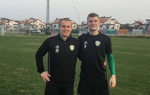 Nikita Andrejev (vasakul) lõi kaks, Jevgeni Harin meisterdas teise. Foto: Levadia FB