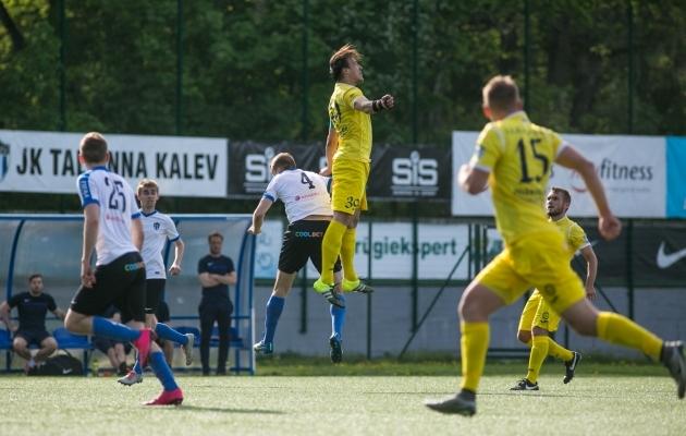 Elari Valmas ja Kuressaare loodavad ka Tallinna Kalevist kõrgemale hüpata. Foto: Jana Pipar