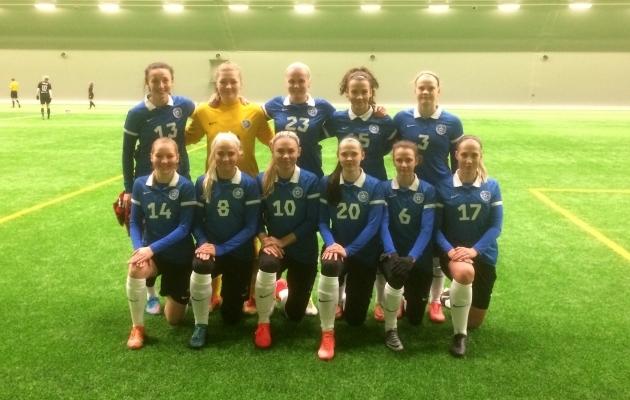 Naiste koondis veebruaris. Foto: jalgpall.ee