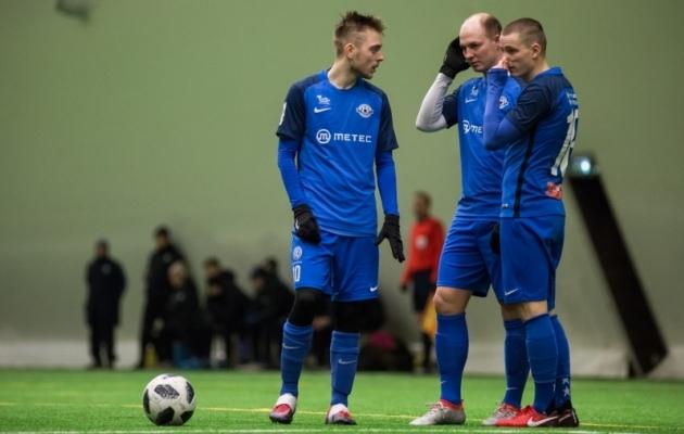 Sander Kapper, Mikk Laas ja Kaspar Paur - kõik on Tammeka algkoosseisus. Foto: Jana Pipar / EJL