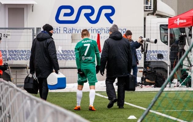 Pavel Marin vigastas nädalavahetusel reit ja tema võib selle nädala valikust välja jätta. Foto: Oliver Tsupsman