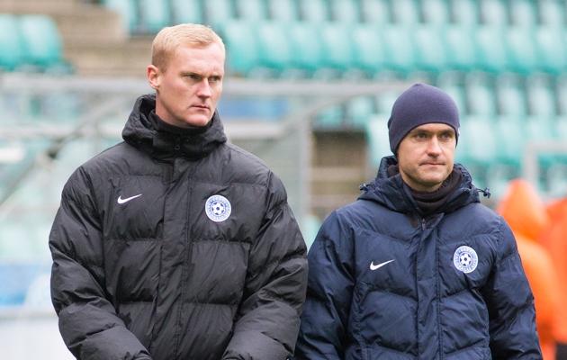 Koondise treenerid Sander Post ja Norbert Hurt. Foto: Jana Pipar / EJL