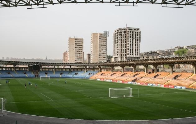 Laupäevase mängu toimumispaik - Vazgen Sargsjan Republican Stadium. Foto: Brit Maria Tael