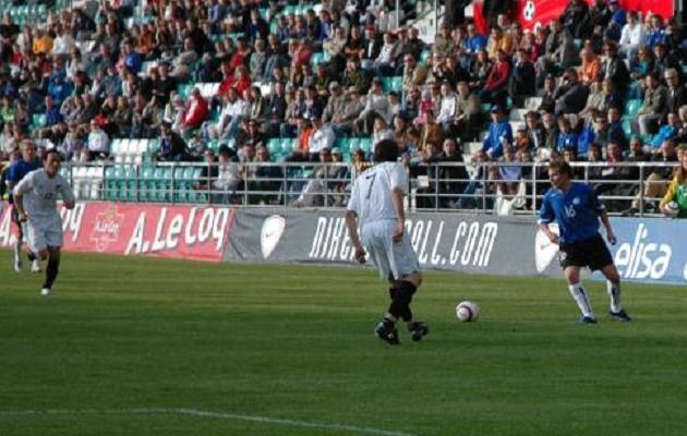 Vassiljevi (16) koondisedebüüt tuli lõpuks 31. mail 2006 Uus-Meremaa vastu. Foto: Soccernet.ee (arhiiv)