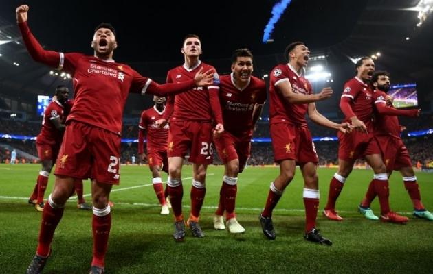 Liverpooli mängijad eilset 1:1 viigiväravat tähistamas. Foto: Liverpool FC