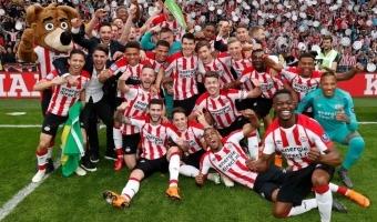 PSV meistritiitli tähistamisele oli päris arvestatav hulk rahvast kogunenud