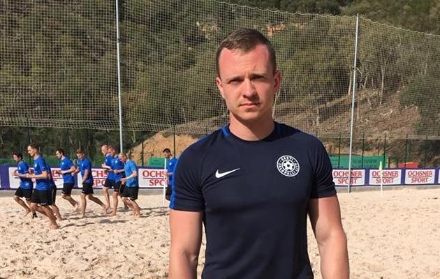 Mängiv peatreener Kristian Marmor. Foto: Beach Soccer Estonia Facebook
