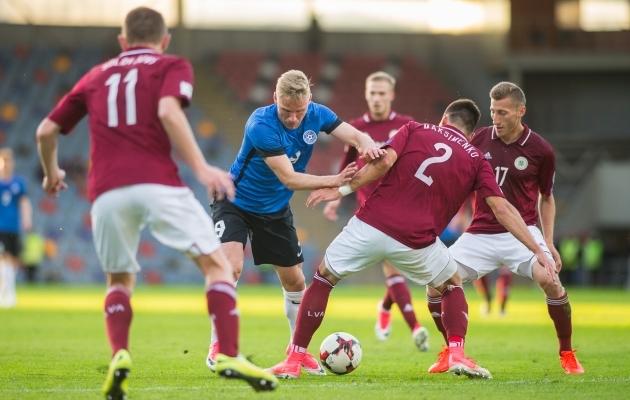 Mullu õnnestus Eestil Riias Skonto staadionil 2:1 võita. Foto: Brit Maria Tael