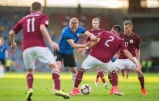 Läti võõrustab Eestit staadionil, kus sinisärgid on ainult kaotanud