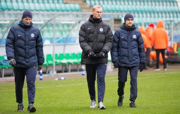 Koondise treenerid Andus Lukjanov, Sander Post ja Norbert Hurt. Foto: Jana Pipar
