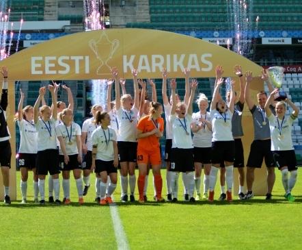 VAATA JÄRELE: Flora võitis naiste karikafinaali suurelt  (lisatud galerii!)
