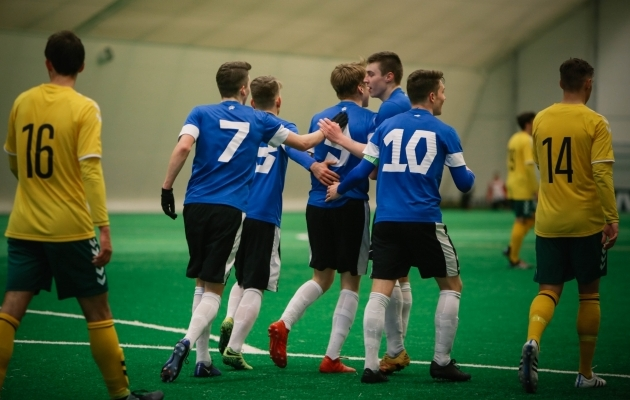 U19 koondis kohtus märtsi lõpus kahel korral Leeduga, kaotades 2:3 ja 0:2. Foto: Catherine Kõrtsmik