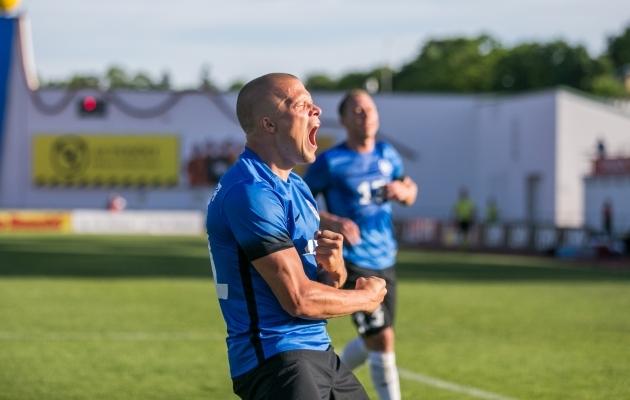 Henrik Ojamaa on nüüd Eesti koondises värava löönud! Foto: Brit Maria Tael
