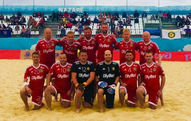 Meeskond enne mängu Sportinguga. Foto: Nõmme BSC Olybet