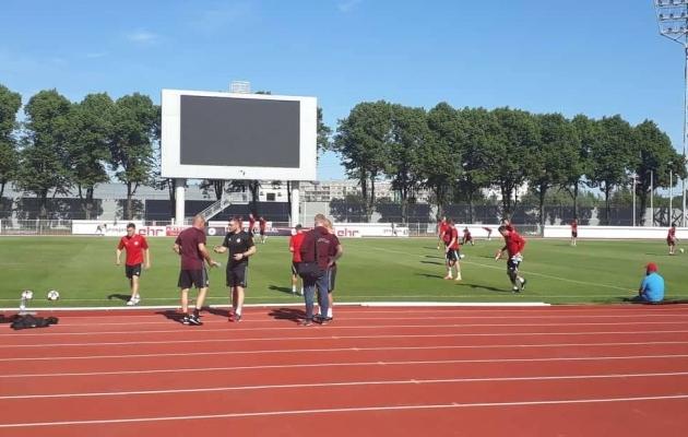 15 minuti avatud treeninguga ei andnud lätlased ära ühtegi infokildu. Foto: Ivar Lepik