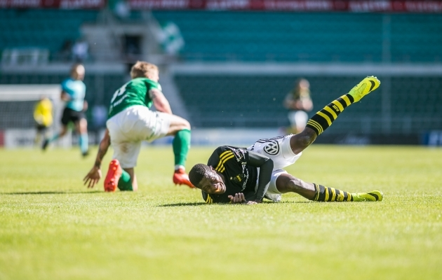Mullu sai Flora AIK-i üle 2:0 võidu. Foto: Brit Maria Tael
