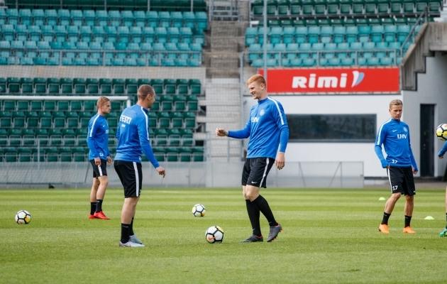 Marek Kaljumäe ja Madis Vihmann kuuluvad tõenäoliselt Eesti laupäevasesse kaitseliini. Foto: Oliver Tsupsman
