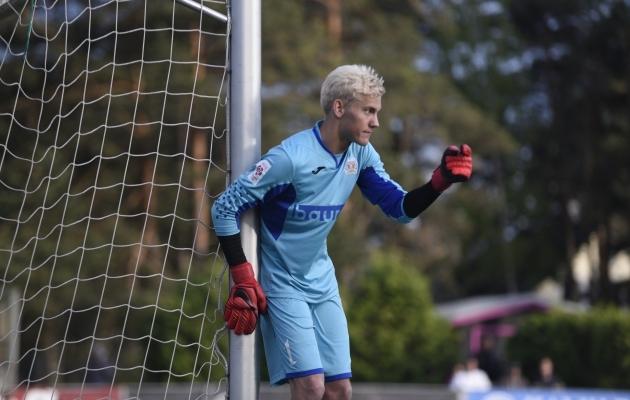 Penaltipunktilt sahistas võrku isegi väravavaht Ingmar Krister Paplavskis. Foto: Liisi Troska
