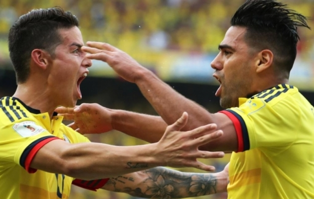 James Rodriguez ja Radamel Falcao. Foto: aldianews.com