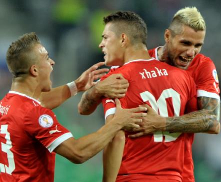 Xhaka ja Shaqiri tõid Šveitsile väga tähtsad kolm punkti