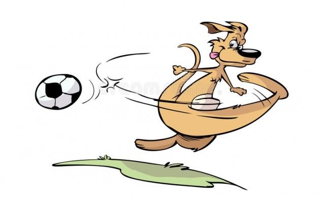 Oi kui lahe! Känguru tahab Austraalias ka jalkat mängida