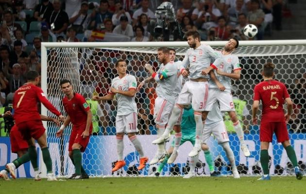 Hispaania ja Portugal mängisid viiki, aga said mõlemad ikkagi edasi. Foto: sportingnews.com