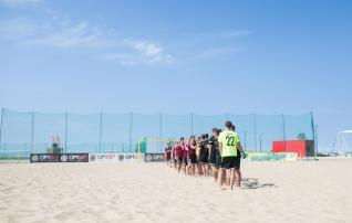Laupäeval jätkuvad rannajalgpalli liigad Pärnu rannas