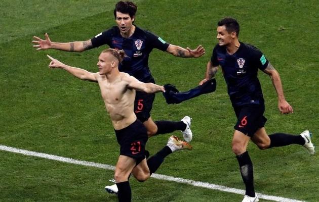 Domagoj Vida tähistas mõnuga. Foto: sportsnet.com