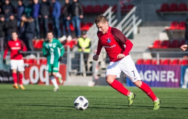 Svjatoslav Jakovlev kevadel FCI Levadia vastu. Foto: Jana Pipar / EJL