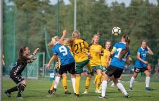 Galerii: 7:0! U15 tüdrukud olid Leedust selgelt üle