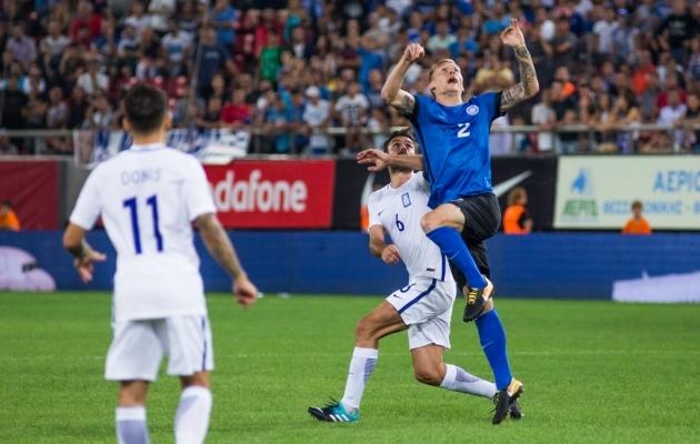 Mullu Ateenas andis Eesti korraliku kaitselahingu ja tuli ära 0:0 viigiga. Foto: Jana Pipar / EJL