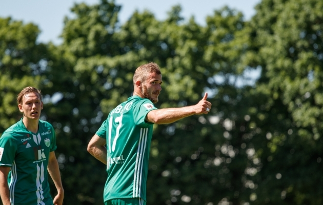 Levadia ründaja Roman Debelko loodab Vapruse vastu oma väravasaldot kasvatada. Foto: Oliver Tsupsman