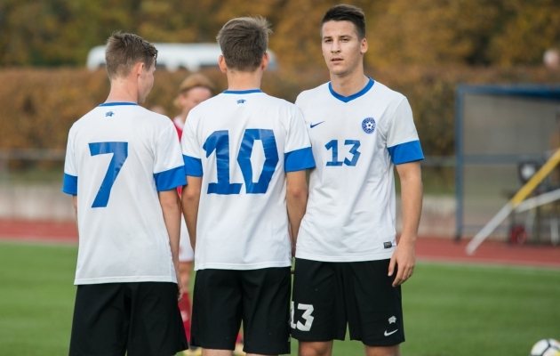 Eesti U19 koondislased. Foto: Brit Maria Tael