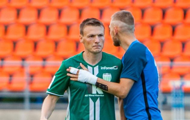 Dmitri Kruglovi ja Sander Kapperi duell otsustas suuresti kohtumise saatuse. Foto: Gertrud Alatare (arhiiv)