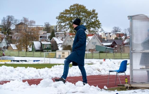 Talv jõudis Viljandisse varakult - juba sügisel tuli üks liigamäng seetõttu edasi lükata. Eriti hulluks läksid asjad aga jaanuaris. Foto: Liisi Troska