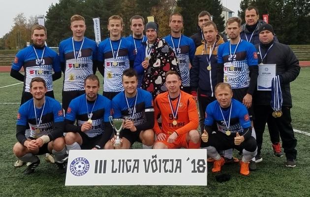 III liiga finaali võitis Põhja-Sakala. Foto: EJL